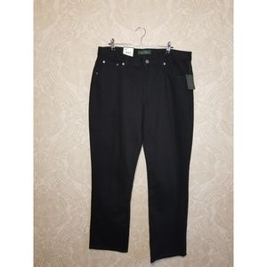 LRL Lauren Jeans Co Modern Slim black jeans